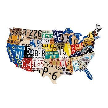 Vintage USA License Plate Sign