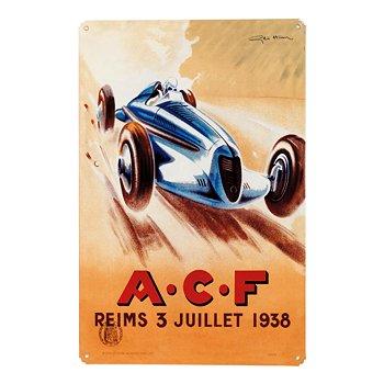 ACF Reims 1938 Racing Sign