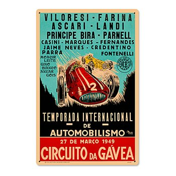 Circuito Da Gavea 1949 Racing Sign