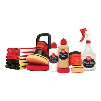 Dual Orbital Machine Polish and Wax Kit
