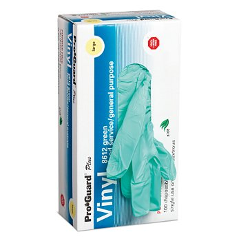 Aloe Coated Vinyl Gloves, 100 Gloves