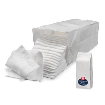 100% Cotton Wipes, 100 Count