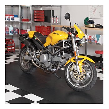 Grooved Motorcycle Mat, 5' x 10'