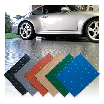 Coin Top Garage Floor Mat