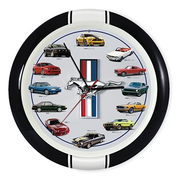 Mustang Anniversary Wall Clock