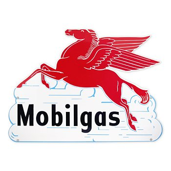 Mobilgas Pegasus In The Clouds Sign