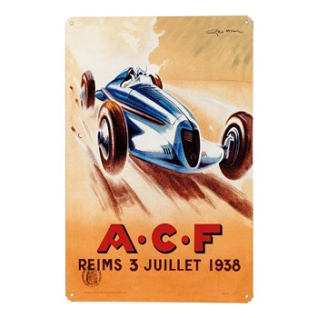 ACF Reims 1938 Racing Sign