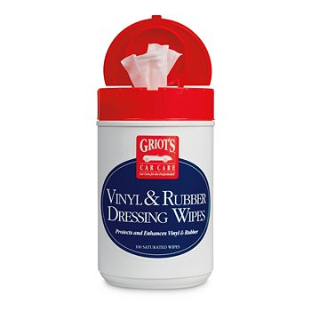 Vinyl & Rubber Dressing Wipes, 100 Count