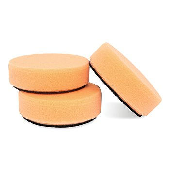 3 Orange Foam Polish Pads, Set of 3