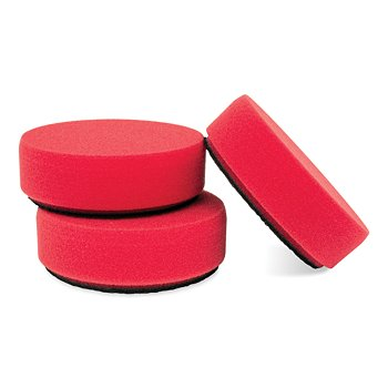 3 Red Foam Wax Pads, Set of 3