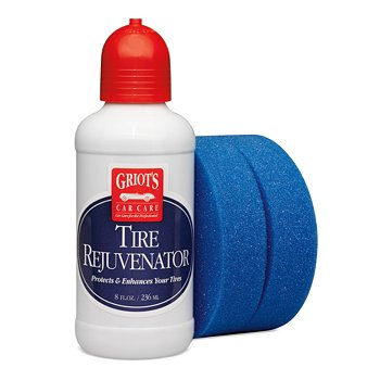 Tire Rejuvenator, 8 Ounces with Blue Detail Sponge