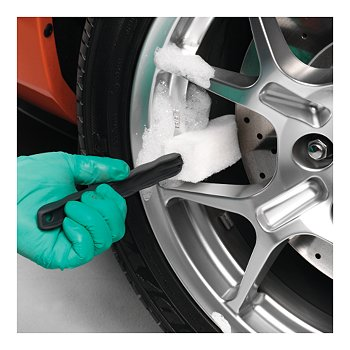 Long-Reach Wheel Scrubber Brushes, Set of 3
